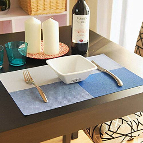 Yooyoo 4pcs/set Placemat Crossweave Woven Vinyl Non-slip Insulation Placemat Washable Table Mats (Italian Marble Coffee Table compare prices)