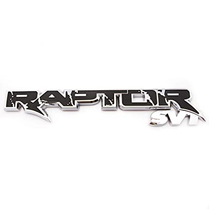 CARRUN 3D Raptor SVT Tailgate Emblem ABS Car Sticker Decal Replacement For F150 Black