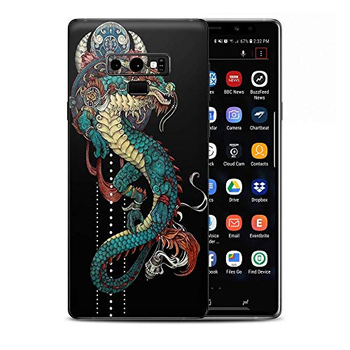 Skin Decal Vinyl Wrap for Samsung Galaxy Note 9 | Decal Stickers Skins Cover| Dragon Japanese Style Tattoo