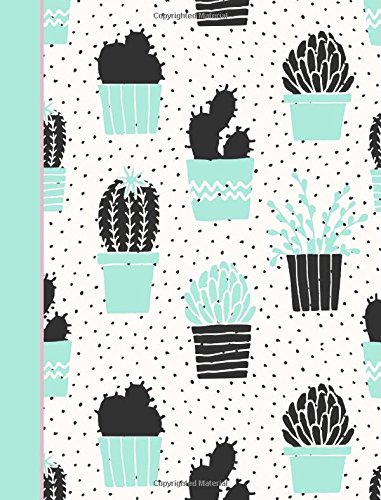Composition Notebook: Cactus Mint Green College Ruled Book Journal (140 Lined Pages / 70 Sheets) (7.44 x 9.69)
