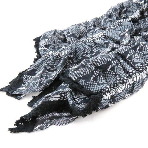 Les Trésors De Lily [J2703] - Echarpe 'Safari' noir blanc