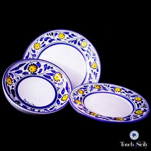 Amazon.com | Touch of Sicily Italian \ Dinnerware Sets\  \ Ceramic Plates\  Sunflower Set 24 Pcs. Dinnerware Sets  sc 1 st  Amazon.com & Amazon.com | Touch of Sicily Italian \