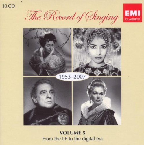 The Record of Singing, Vol. 5: 1953-2007 - From the LP to the Digital Era by EMI CLASSICS