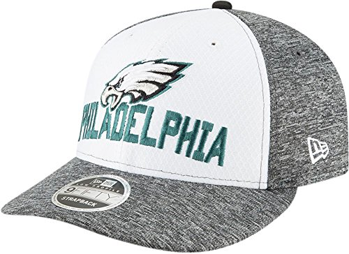New Era Philadelphia Eagles Super Bowl Lii Opening Night Low Profile 9FIFTY Snapback Adjustable Hat – White/Heather Gray (Mens Hat Cap)
