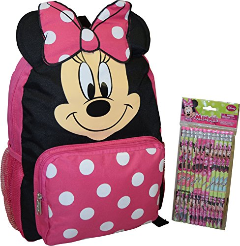 Disney Minnie Mouse Backpack Pencils
