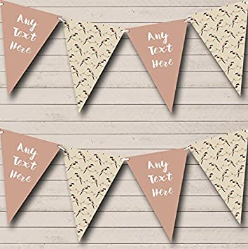 Party Banner Bunting Birds Geometric Personalised Birthday