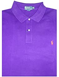 Polo Ralph Lauren Mens Big & Tall Classic Fit Mesh Short Sleeve Shirt Purple