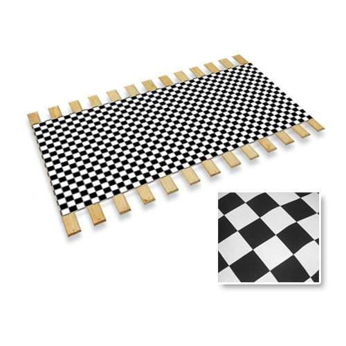 Full Size Custom Bed Slats With Checkered Flag Race Car Print Fabric-Help Support Your Box Spring and (Cove Sleigh)