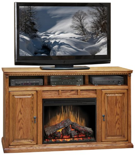 Corner Oak Gel - Scottsdale Fireplace Console