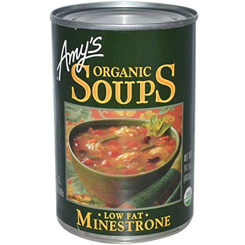 - Amy's, Organic Soups, Low Fat Minestrone, 14.1 oz (400 g)(Pack of 3)