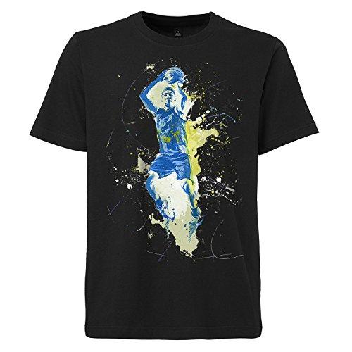 Basketball_V schwarzes modernes Herren T-Shirt mit stylischen Aufdruck
