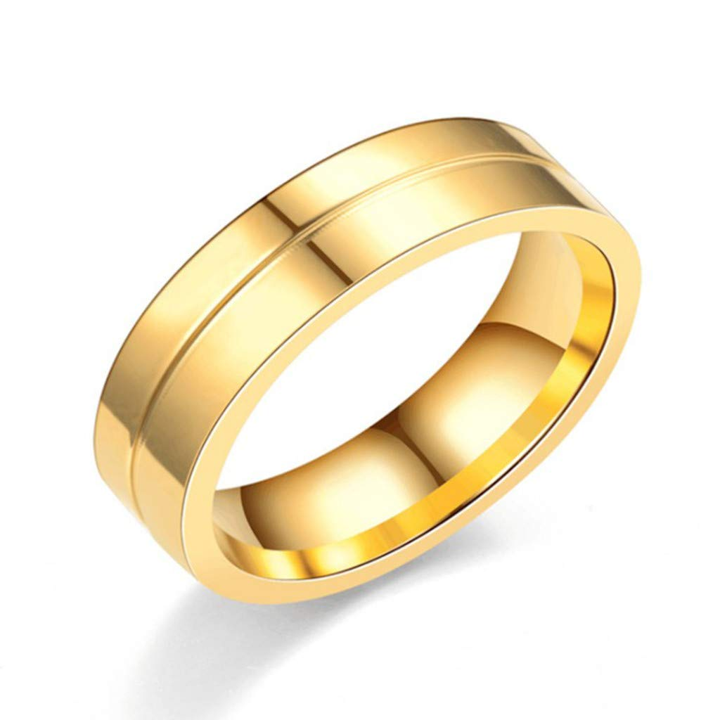 ❤❤Ratoop❤❤Stylish and Simple New Titanium Steel Couple Ring Jewelry by Ratoop-rings (Image #4)