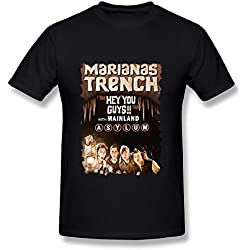 SY Marianas Trench The Hey You Guys Tour Cotton T Shirt For Men Black S