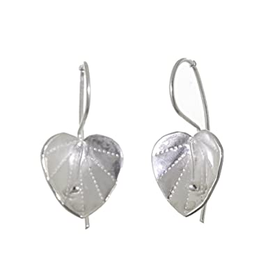 HAND MADE EARRINGS *LILY LILIES WHITE PEARL* STERLING SILVER 925 ARTISAN JEWELRY