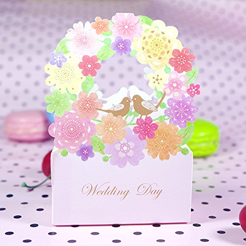 Saasiiyo 20 Pieces/lot Flower Candy Bag Floral Guest Sugar Luxury Decoration Decor Party Paper Wedding Gifts Favors Box For Guest