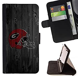 DEVIL CASE - FOR HTC One M8 - Gladiator Sports Team - Style PU Leather Case Wallet Flip Stand Flap Closure Cover