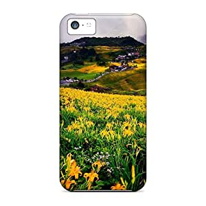 Pretty JNo21000aJLT Iphone 5c Cases Covers/ Flowers In The Meadow After A Storm Series High Quality Cases