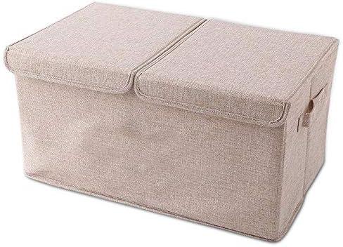 صناديق تخزين كبيرة مع أغطية صندوق تخزين قابل للطي من قماش الكتان للنساء مع مقابض للمنزل المكتب غرفة نوم غرفة المعيشة Amazon Ae