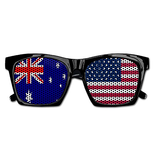 Elephant AN Themed Novelty Flag Of Usa Australia Creative Visual Mesh Sunglasses Fun Props Party Favors Gift - Australia Frames Glass