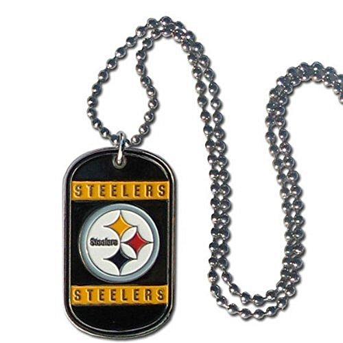 NFL Officially Licensed Dog Tag Necklace (Pittsburgh Steelers)