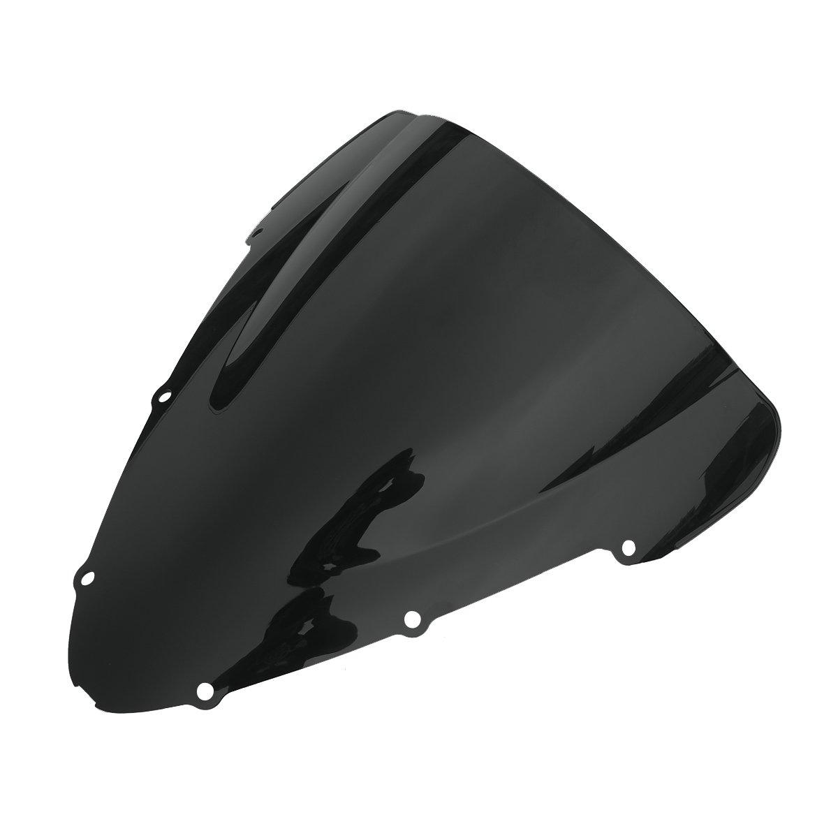 XMT-MOTO Black Windshield Windscreen For Honda CBR600 F4I 2001 2002 2003 2004 2005 2006 2007 2008