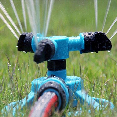 KINGSO 360 Degree Rotating Automatic Garden Sprinkler Lawn Irrigation System Durable Three Arm Sprayer Water Sprinkler