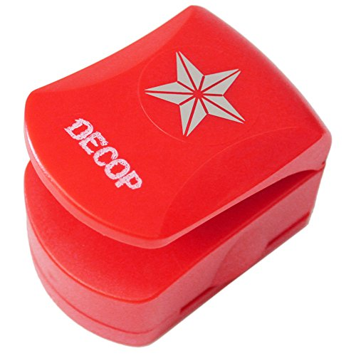DOCOP Embossed Craft Punch 32mm (1.25inch) 3D Star Deco Craft Punch
