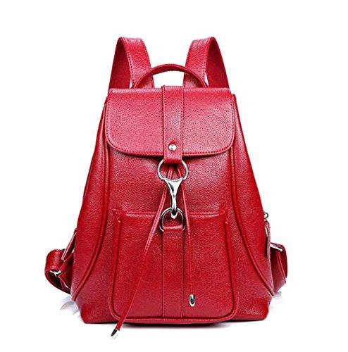 25 des 13 multifonctionnel dos en main mode à à la PU 32cm cuir sac décontracté de Sac sac souple femmes wTpFSq