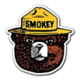 weed window decals - SMOKEY THE BEAR - [CUSTOMI] Firefighting Wildlife Decal Sticker for Car Truck Macbook Laptop Air Pro Vinyl (1 Pack)