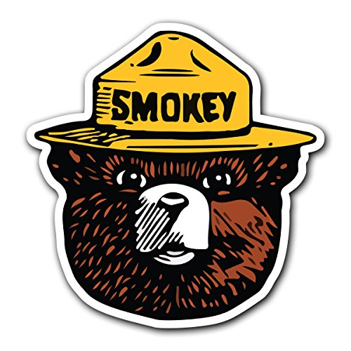 Cut Swag - SMOKEY THE BEAR - [CUSTOMI] Firefighting Wildlife Decal Sticker for Car Truck Macbook Laptop Air Pro Vinyl (1 Pack)