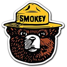 SMOKEY THE BEAR - [CUSTOMI] Firefighting Wildlife Decal Sticker for Car Truck Macbook Laptop Air Pro Vinyl (1 Pack)