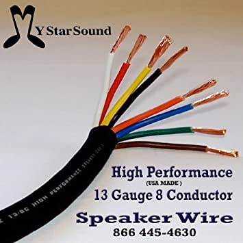 Amazon 13 gauge 8 conductor speaker snake wire usa made hi amazon 13 gauge 8 conductor speaker snake wire usa made hi end 15 ft musical instruments keyboard keysfo Image collections