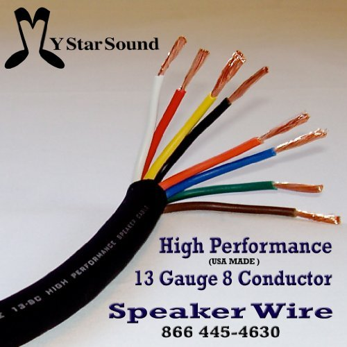 Amazon.com: 13 GAUGE 8 CONDUCTOR SPEAKER / SNAKE WIRE USA MADE HI ...