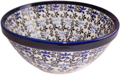 Boleslawiec Stoneware - Polish Pottery Xlg Mixing or Serving Bowl -Eva's Collection