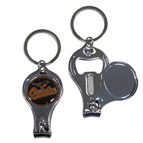 MLB Baltimore Orioles Nail Care/Bottle Opener Key Chain (Baltimore Orioles Chrome Emblem compare prices)