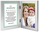Baptism, Birthday or Christmas Gift for Godmother - Sweet Godchild Poem From Godson or Goddaughter in Double Frame - Add 4x6 Photo