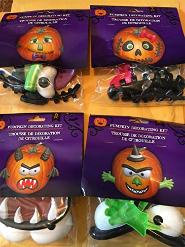 Greenbrier International Pumpkin Decorating Kits, 4 Different Sets (Monsters & Witche)