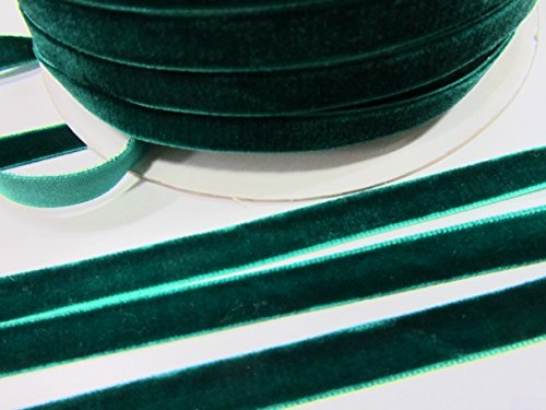 10 yards Velvet 3/8 Ribbon (R116-Emerald Green) R116-Emerald Green US Seller Ship Fast