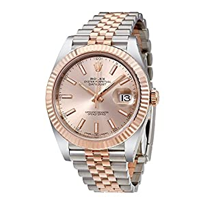 Rolex Datejust 41 Sundust Dial Steel and 18K Everose Gold Mens Watch 126331SNSJ