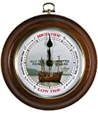 Nautical Tide Clock Galleon Ship Dial by West and Company Dark Oak
