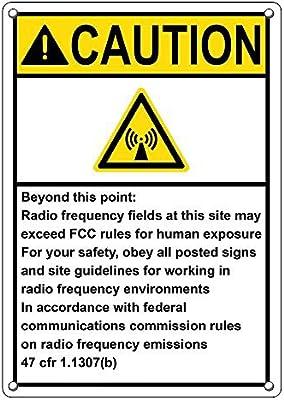 Amazon.com: Weatherproof Plastic Vertical ANSI Caution Radio ...