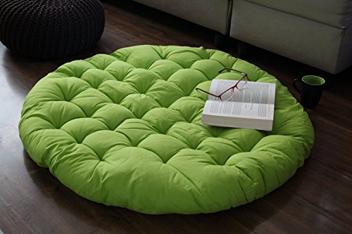 Papasan Chair Round Lounge Seat Floor Cushion Pillow for Maximum Comfort 38 Inches (Halloween Party Ideas Senior Citizens)