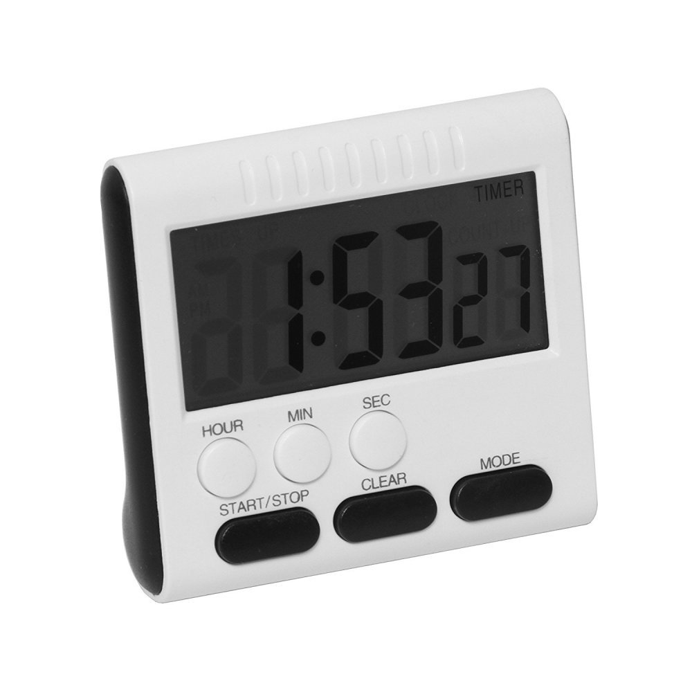 Digital Kitchen Timer Clock ixaer Cooking Timer Multifunction with Touch Screen Big Digits, Loud Alarm, Magnetic Backing Stand for Cooking Baking Sports Games Office – Black