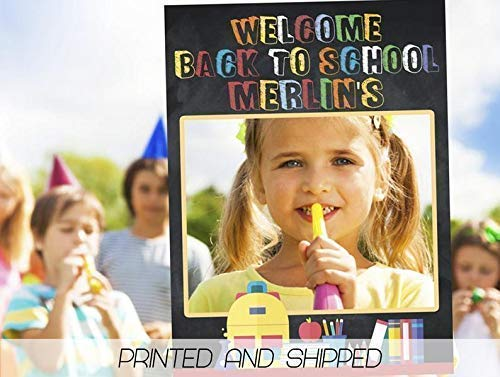 kindergarten Custom Home D/écor first day of preschool Photo Booth Frame Prop Photo Frame Handmade DIY Party Supply Photo Booth Props school props Size 36x24 48x36; Personalized back to school