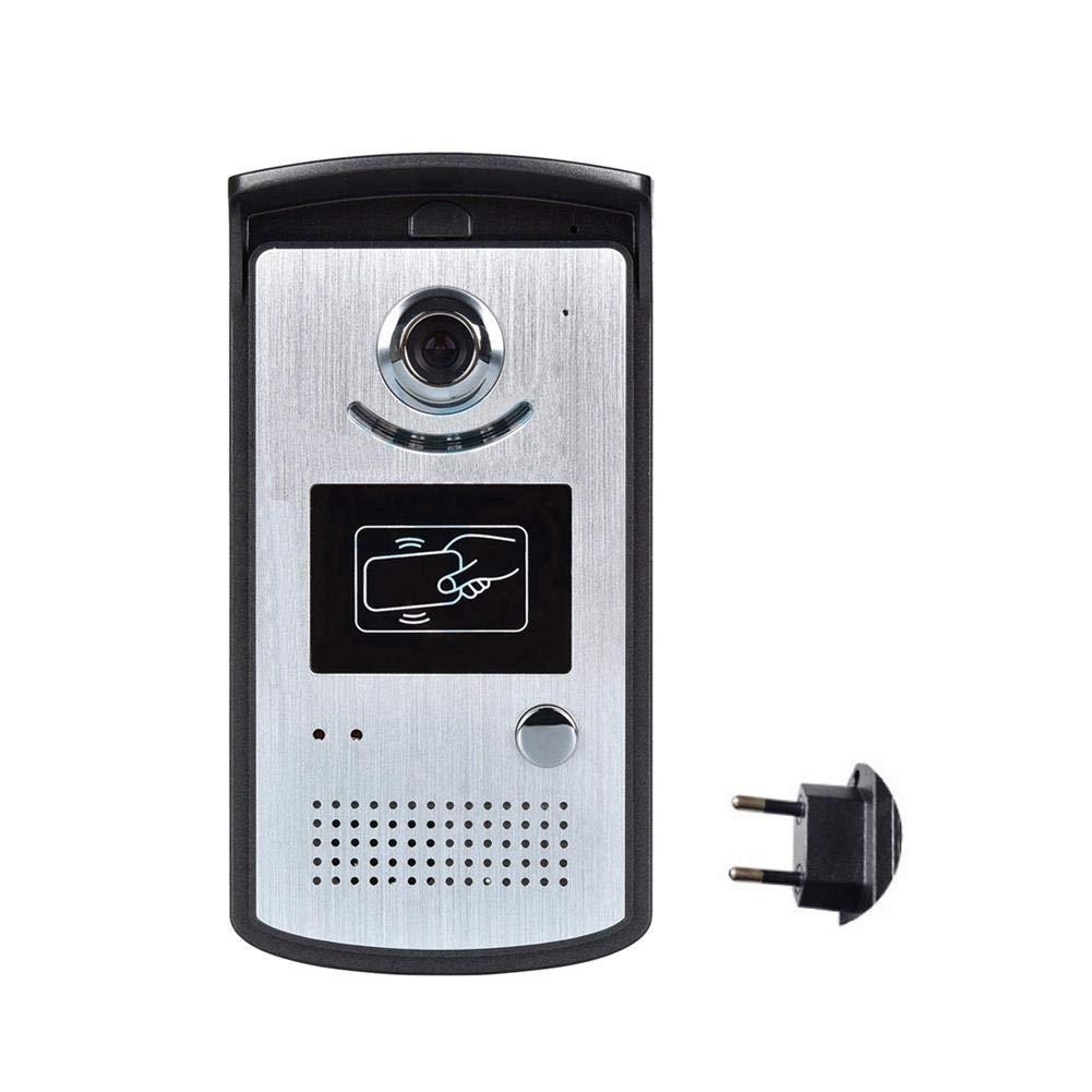 K-Park Türglocken,Zweiweg Drahtlose WiFi Intelligente Drahtlose Videogegensprechunterstützungs-Identifikations-Karte Fernvideoüberwachung Selbstschnappschuss WiFi Verbindung 5 Geräte Gleichzeitig