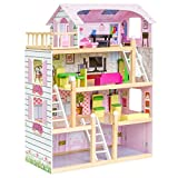 Best Dollhouses - Best Choice Products 4-Level 32.25in Kids Wooden Cottage Review