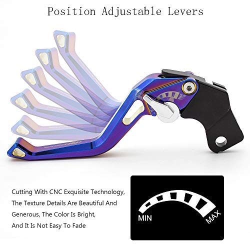 FXCNC Racing Motocicleta 3D Plating corto ajustable palancas de embrague de freno aptos para Aprilia CAPONORD/ETV1000 02-07,Moto Guzzi GRISO 06-16,BREVA ...