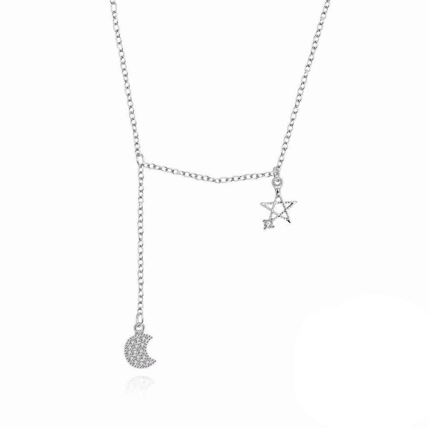 MMC Womens Necklaces Pendants Moon and Star Fashion Party Silver Jewelry