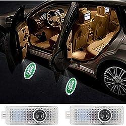 Car Door LED Logo HD Projector Lights Welcome Light for Land Rover Accessories Range Rover LR2 LR3 LR4 Land Rover Evoque Freelander 2-pc set