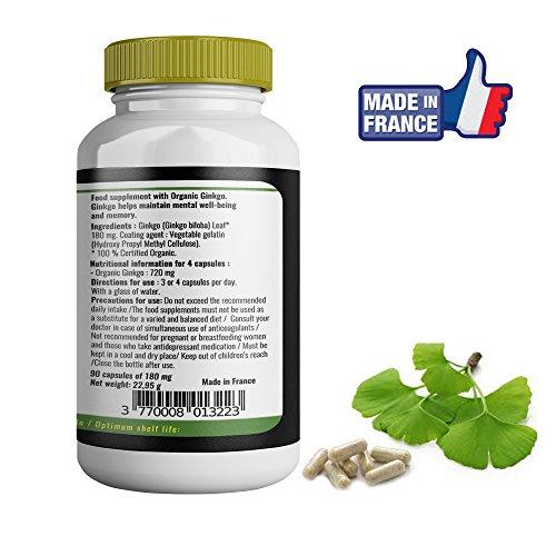 Ginkgo biloba Bio 90 cápsulas de Nutrima Bio- 180 MG: Amazon.es: Salud y cuidado personal